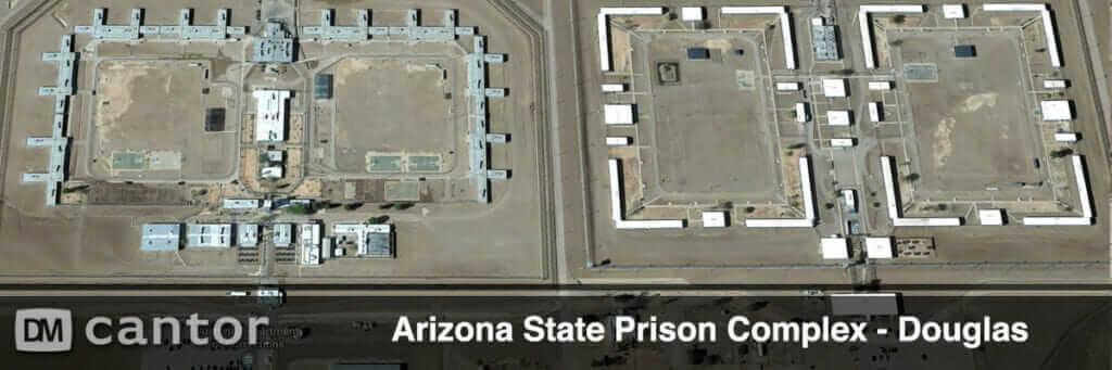 Aerial View of Arizona State Prison Complex in Douglas, AZ