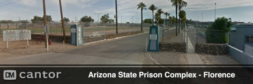 Front Gate View of Arizona State Prison Complex in Florence, AZ