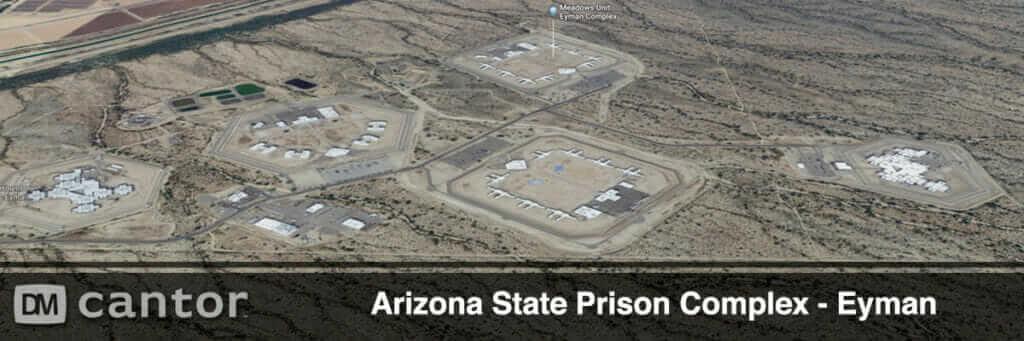 Aerial View of Eyman Prison - Arizona Prison Complex.