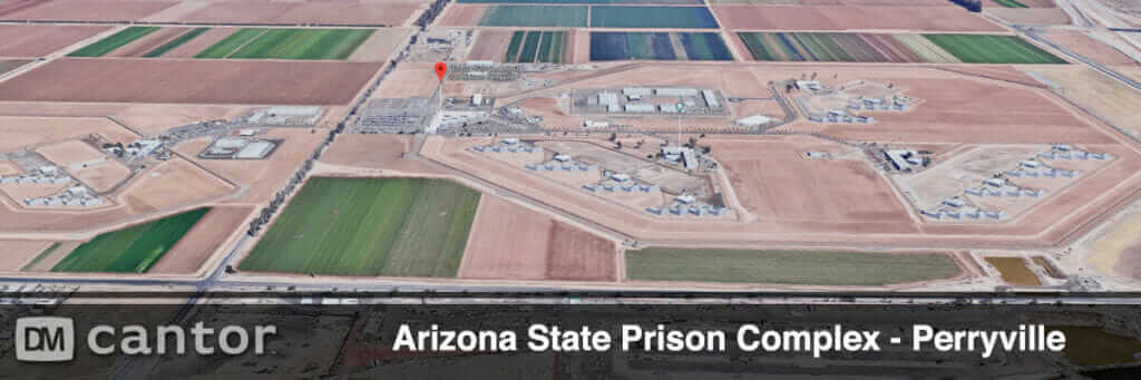 Aerial view of Perryville Prison in Goodyear, Arizona.