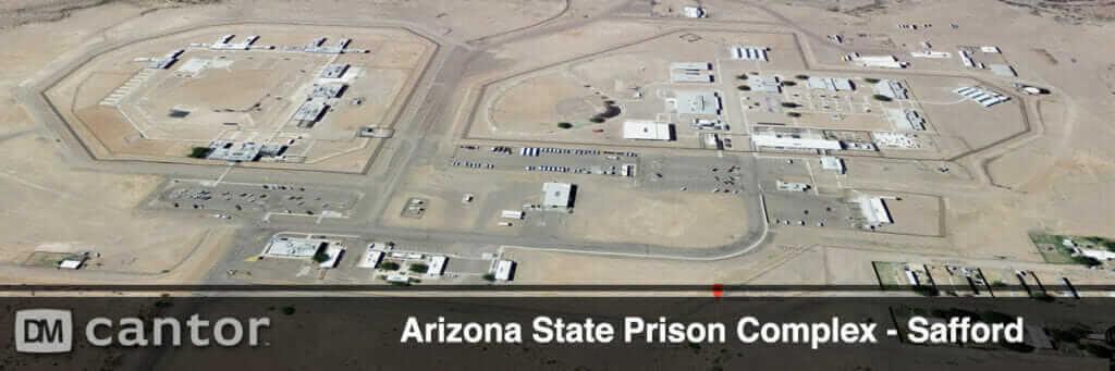 Aerial View of Safford Prison Complex in Safford, Arizona.